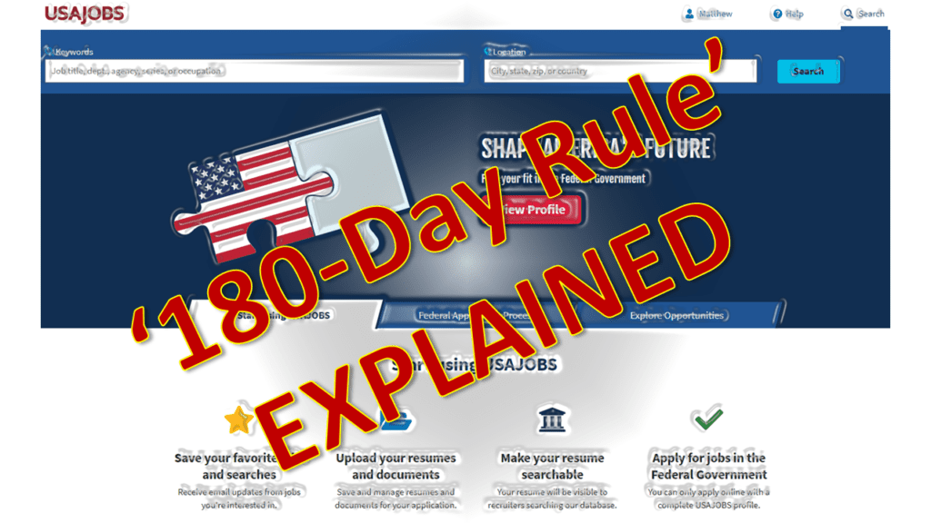 180-Day Rule Graphic of a job board